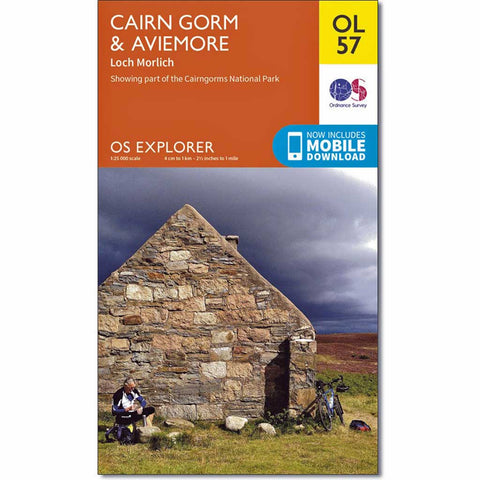 OS Explorer ACTIVE Map OL57 Cairn Gorm & Aviemore Laminated
