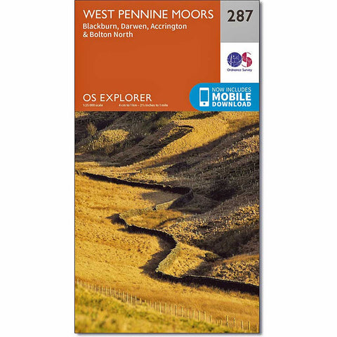 OS Explorer Map 287 West Pennine Moors