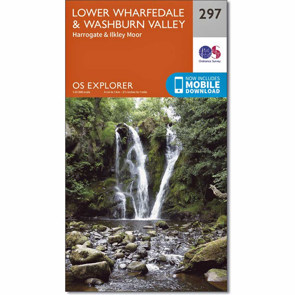 OS Explorer ACTIVE Map 297 Lower Wharfedale and Washburn Valley