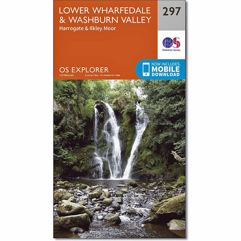 OS Explorer Map 297 Lower Wharfedale and Washburn Valley