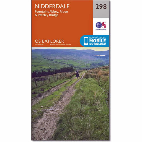 OS Explorer ACTIVE Map 298 Nidderdale