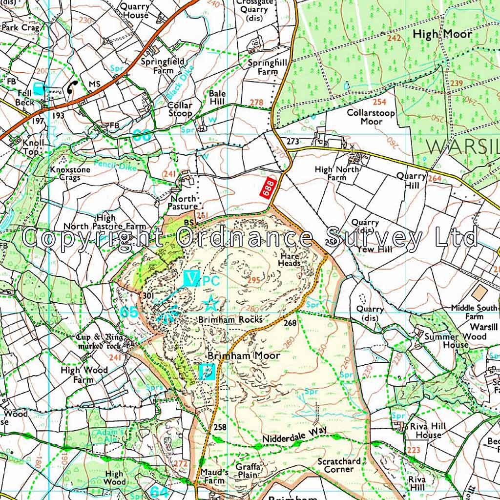 OS Explorer Map 298 Nidderdale