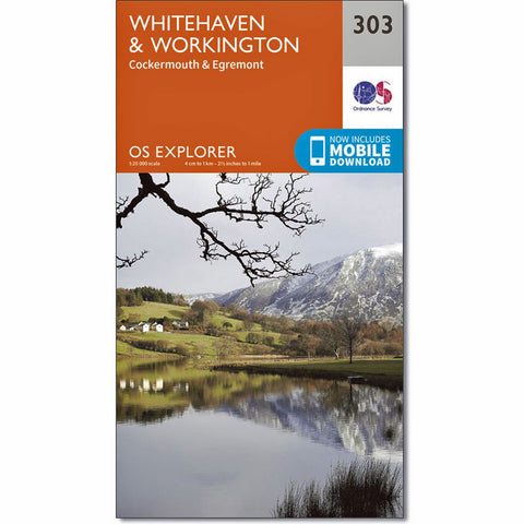 OS Explorer ACTIVE Map 303 Whitehaven and Workington