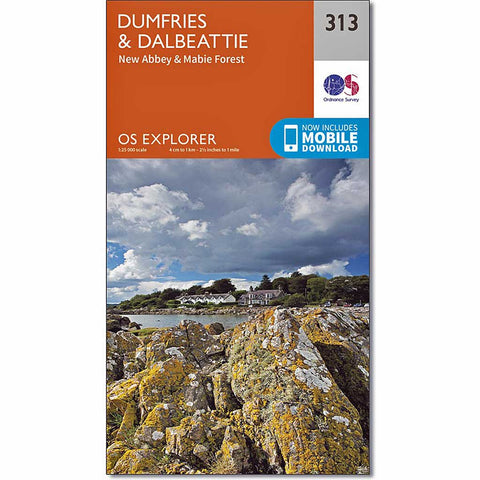 OS Explorer Map 313 Dumfries and Dalbeattie