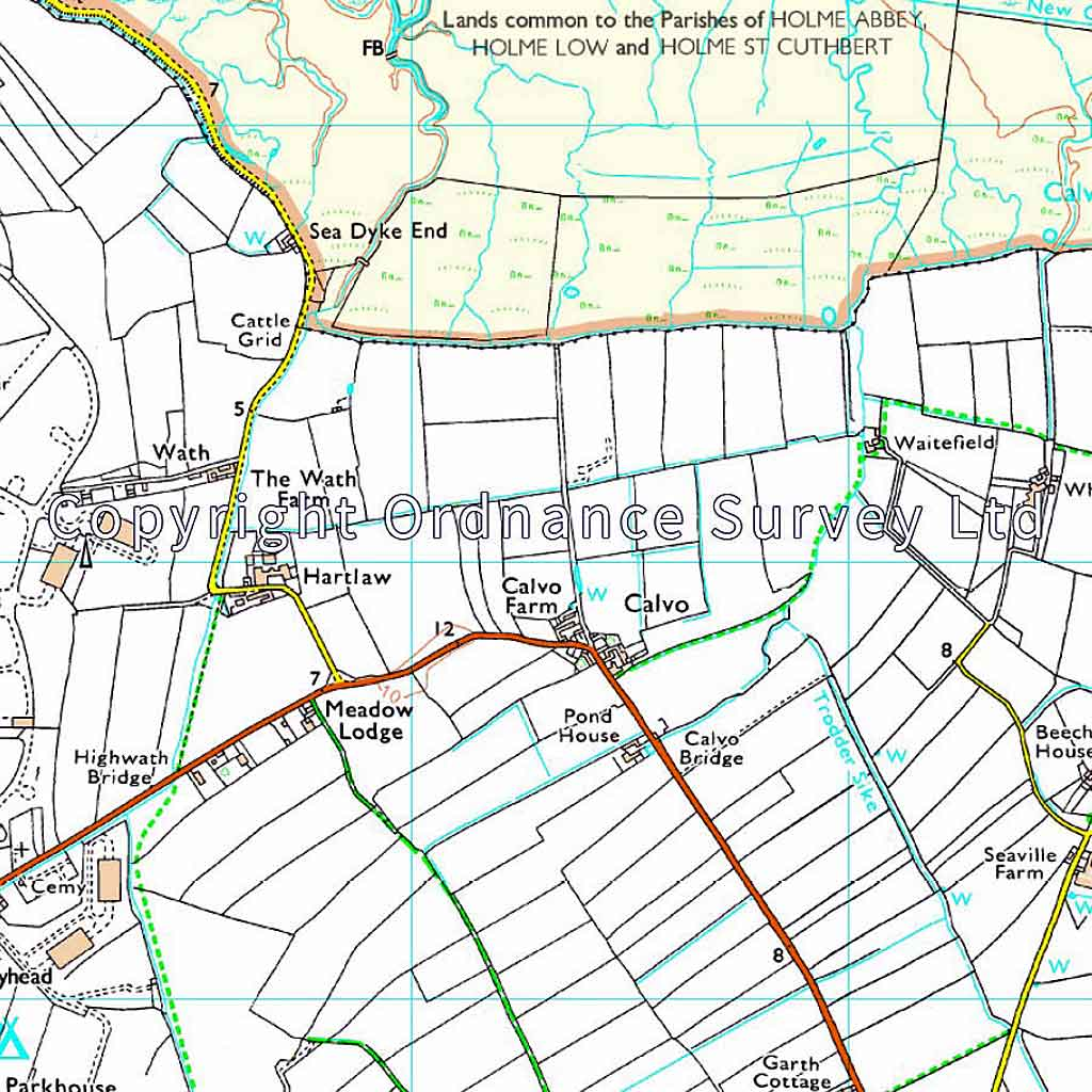 OS Explorer Map 314 Solway Firth, Wigton and Silloth