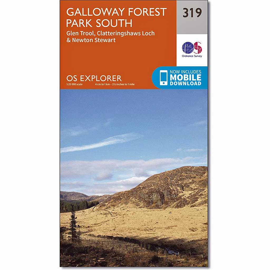 OS Explorer Map 319 Galloway Forest Park South