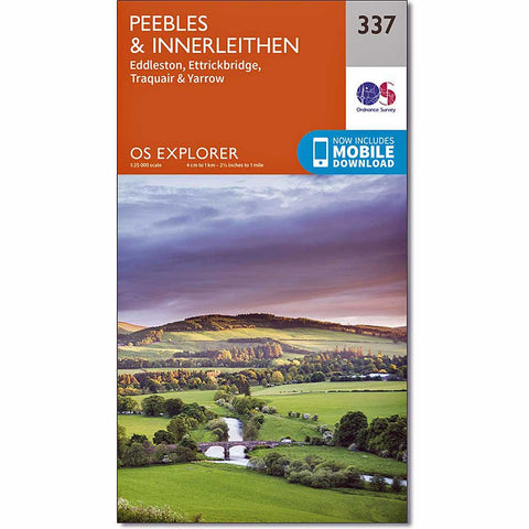 OS Explorer Map 337 Peebles and Innerleithen