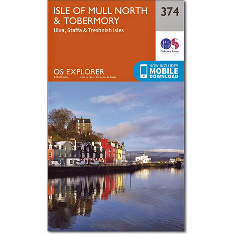 OS Explorer ACTIVE Map 374 Isle of Mull North and Tobermory