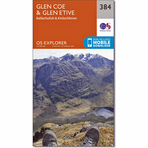 OS Explorer ACTIVE Map 384 Glen Coe & Glen Etive