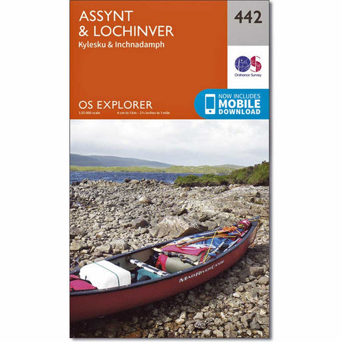 OS Explorer ACTIVE Map 442 Assynt and Lochinver
