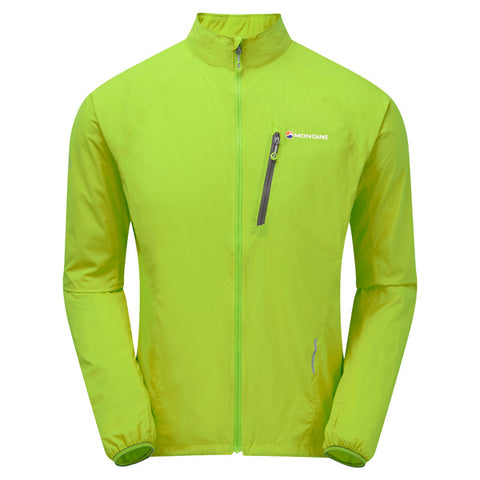 Montane WINDSHELL Jacket Men's Featherlite Trail Laser Green/Black