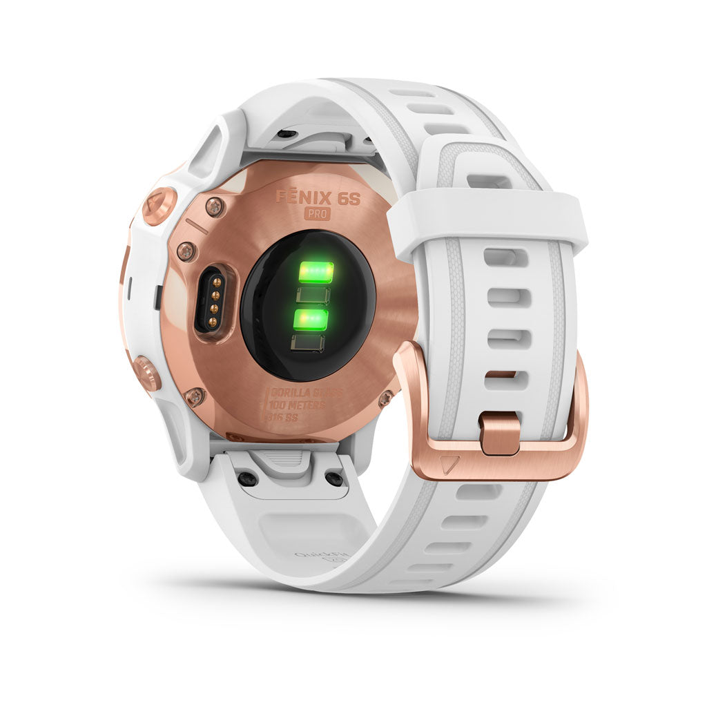 Garmin GPS Watch Fenix 6S Pro Rose Gold/White Band