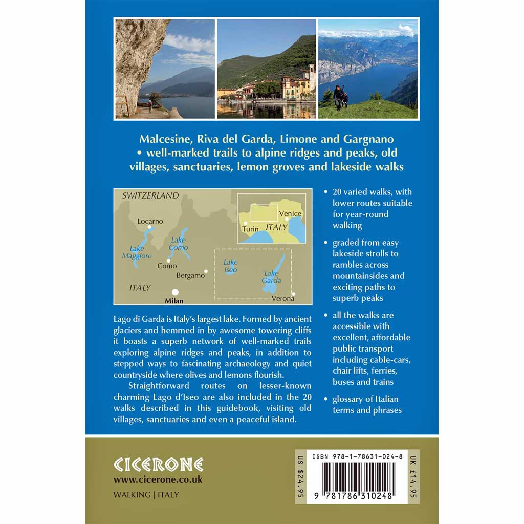 Cicerone Guide Book: Lake Garda and Iseo