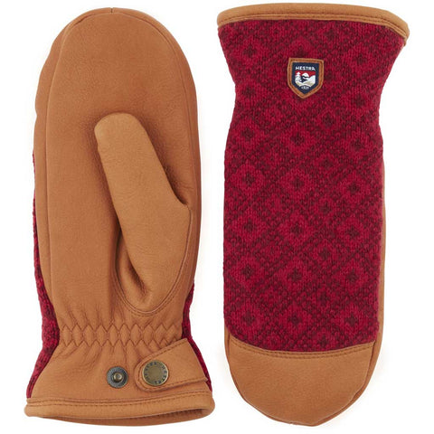 Hestra Gloves Women's Ludvika Insulated Mitts Brown/Red