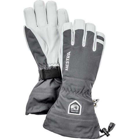 Hestra Ski Gloves Men's Army Leather Heli Ski Grey