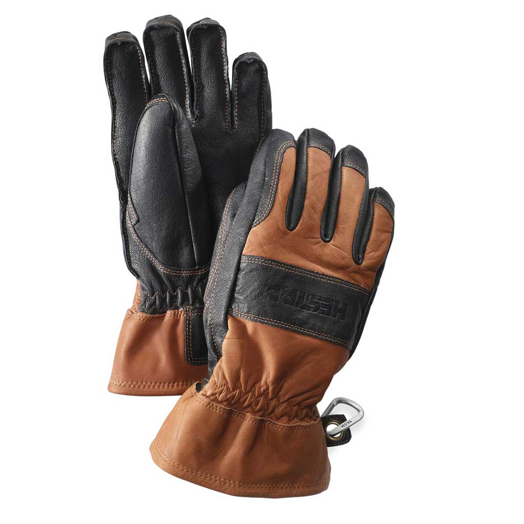 Hestra Gloves Unisex Falt Guide Leather Brown
