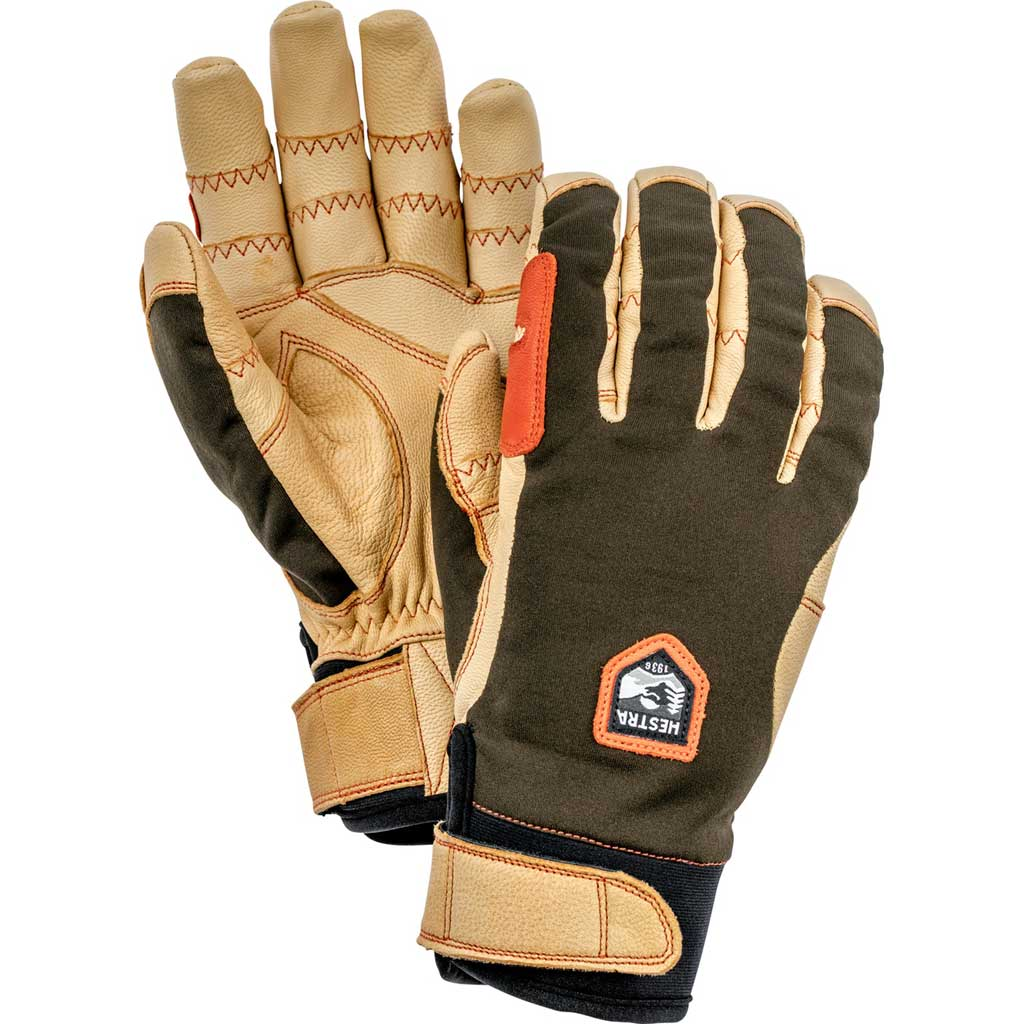 Hestra Ski Gloves Men's Ergo Grip Active Brown/Green
