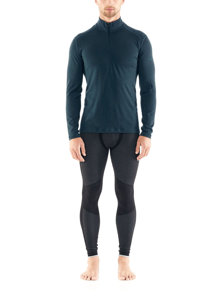 Men's Icebreaker 260 Tech LS Half Zip Base Layer - Blue