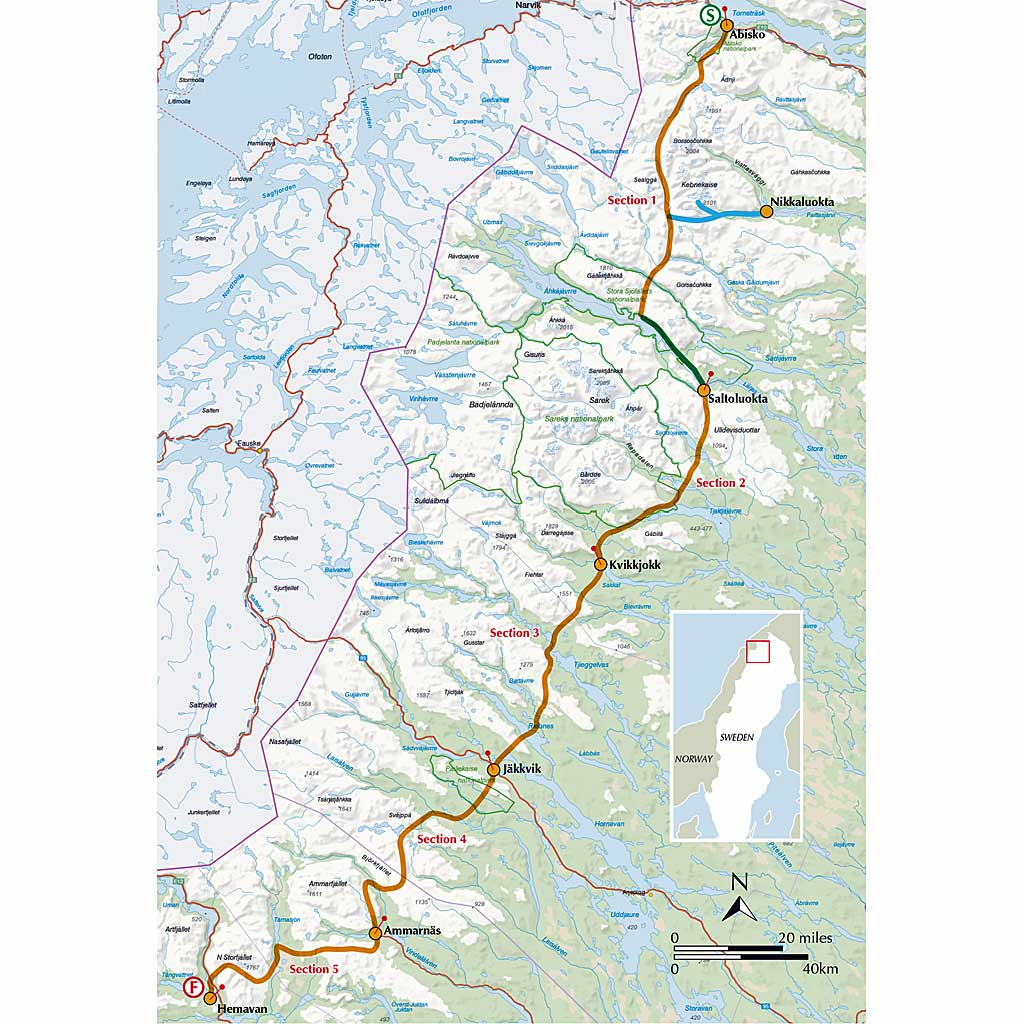 Cicerone Guide Book: Trekking the Kungsleden - The Kings Trail Through Northern
