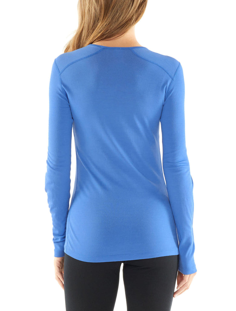 Icebreaker Women's 200 Oasis Long Sleeve Crewe- Midnight Navy
