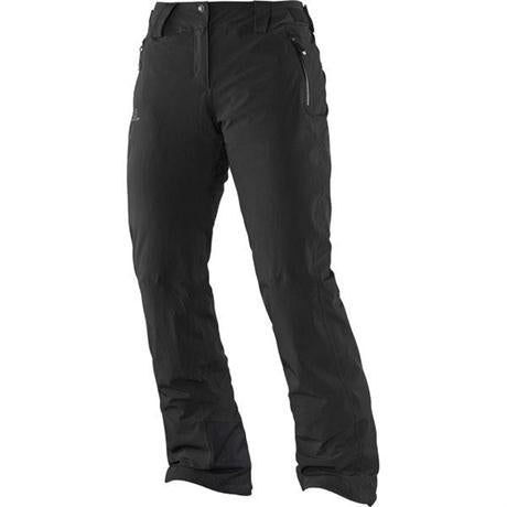 Salomon SKI Pants Women's Iceglory REGULAR Leg Trousers Black