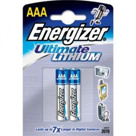 Batteries: Energizer AAA Lithium Pack of 2