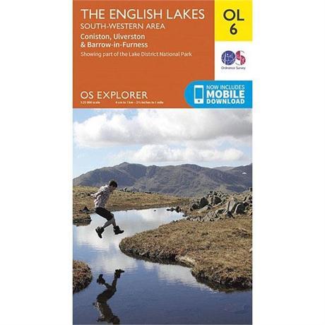 OS Explorer Map OL6 The English Lakes - South Western