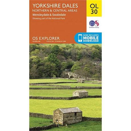 OS Explorer Map OL30 Yorkshire Dales - Northern & Central