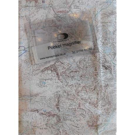 Harvey Pocket Lens Small 84 x 54mm Map Magnifier