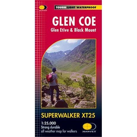 Harvey Map - Superwalker XT25: Glen Coe: Glen Etive & Black Mount
