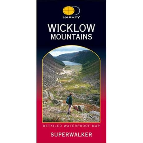 Ireland Map Harvey Superwalker: Wicklow Mountains