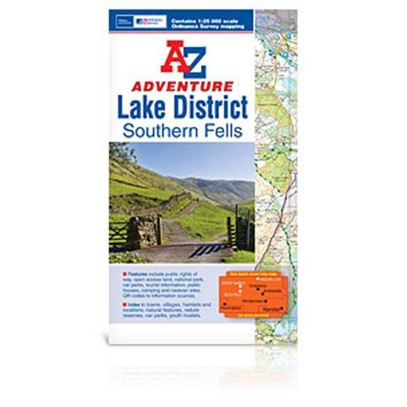 A-Z Adventure Atlas Map - Lake District Southern Fells