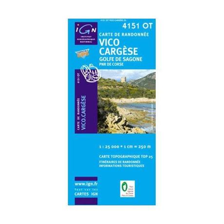 France Map 4151 OT Corsica: Vico - Cargese 1:25,000