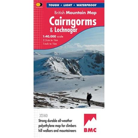Harvey Map - BMC: Cairngorms & Lochnagar: British Mountain Maps