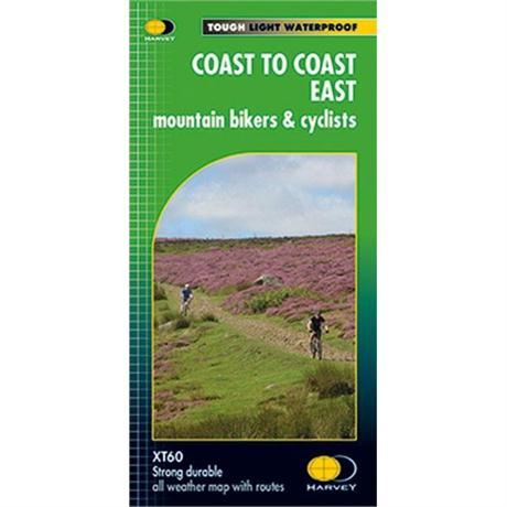 Harvey Map - XT60: Coast to Coast - East -  for Mountain Bikers and Cyclists