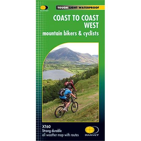 Harvey Map - XT60: Coast to Coast - West - for Mountain Bikers and Cyclists