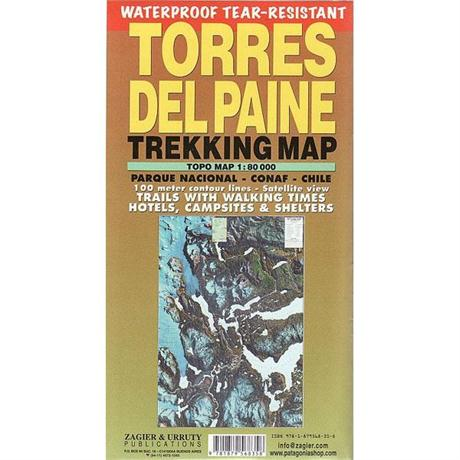 Chile Map: Torres Del Paine Trekking