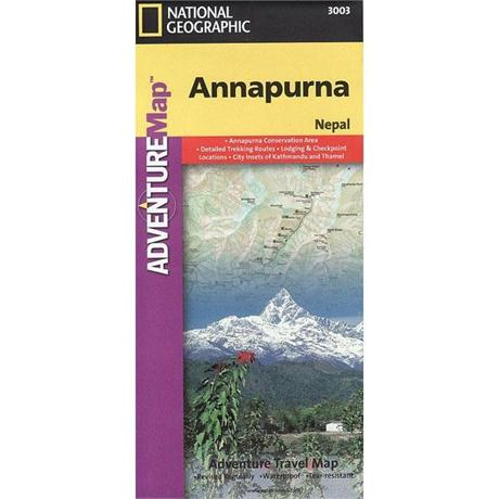 Nepal Map: National Geographic Adventure Map: Annapurna 1:135,000