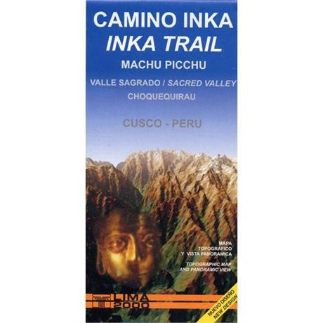Peru Map: Inca Trail, Machu Picchu 1:50 000