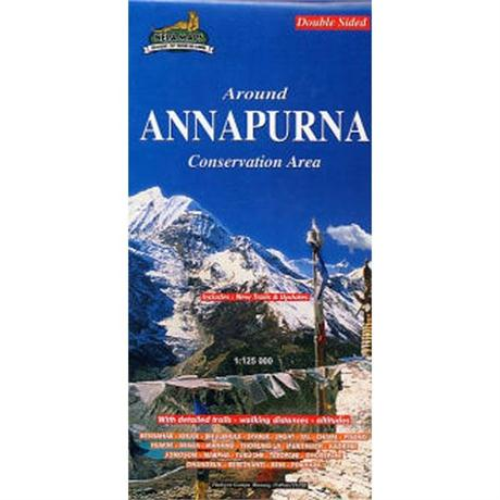 Nepal Map: Around Pokhara Valley 1:50,000 / Around Annapurna 1:125,000