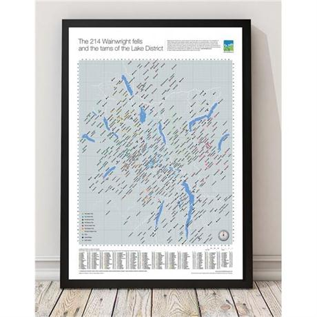 214 Wainwright Fells Map