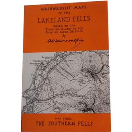 Wainwright Map No.4 The Southern Fells