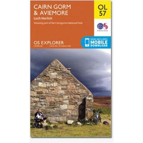 OS Explorer Map OL57 Cairngorm and Aviemore