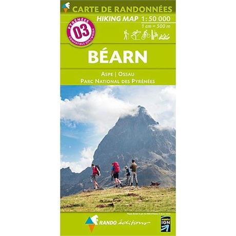 France IGN Map Rando Editions Bearn