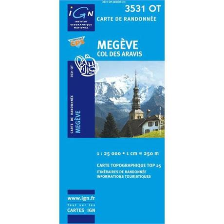 France IGN Map Megeve 3531 OT