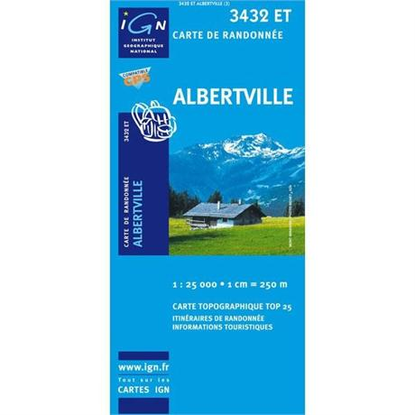 France IGN Map Albertville 3432 ET