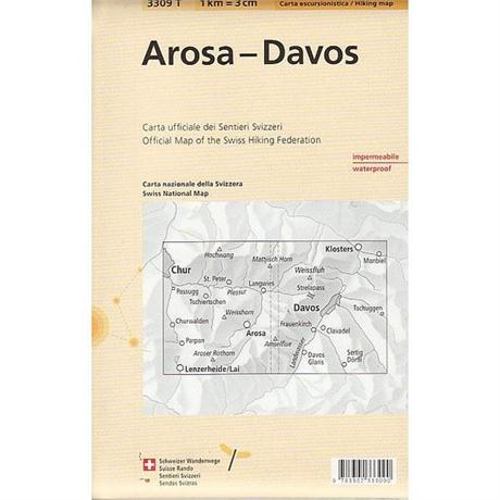 Switzerland Map 3309T Arosa - Davos Waterproof
