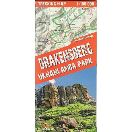 South Africa Map: Drakensberg - Terraquest 1:100,000
