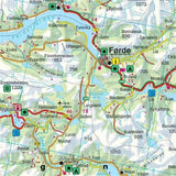 Norway Map: South - Oslo - Bergen - Stavanger 1:250,000