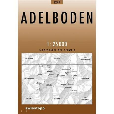 Switzerland Map 1247 Adelboden 1:25,000